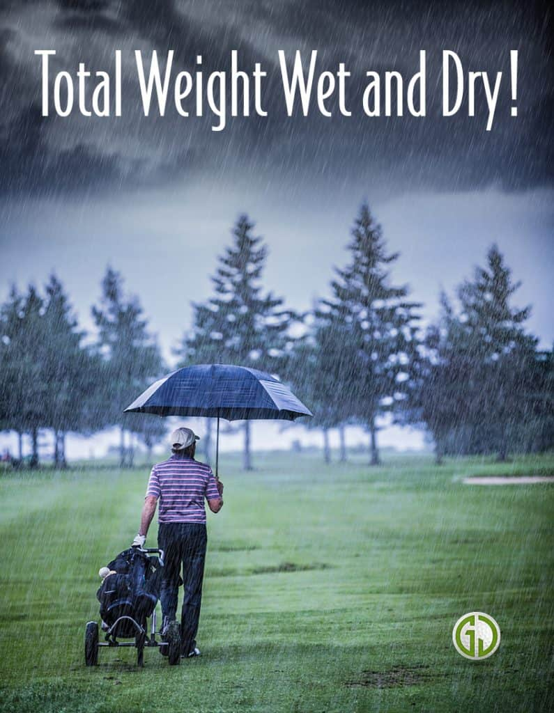 Golf bag Total Weight Wet and Dry