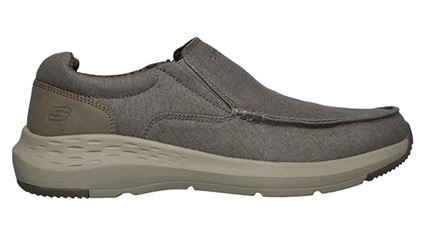 Skechers Mens Moc Toe Canvas